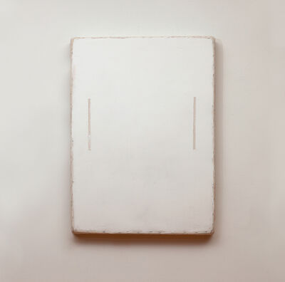 Otis Jones, 'White with two Lines', 2014