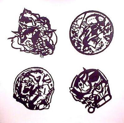 Peter Nagy, 'Four Cancer Logos', 1988