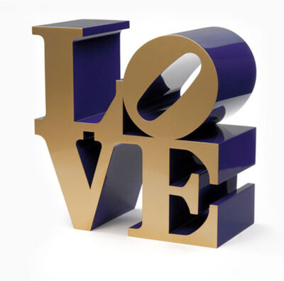 Robert Indiana, 'LOVE (Gold faces Blue sides)', 1966-2002