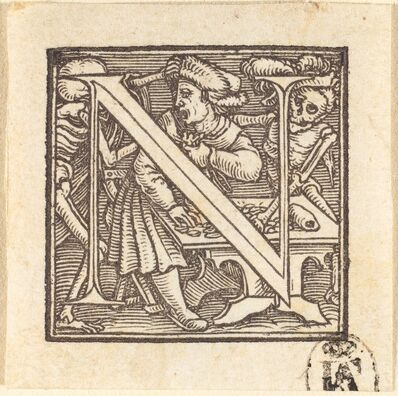Hans Holbein the Younger, 'Letter N'