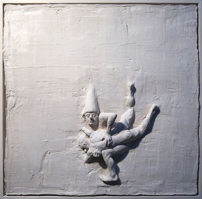Beth Carter, 'Fighting Clowns I (relief)', 2019