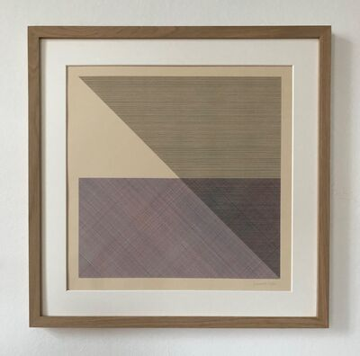 Sol LeWitt, 'Eight Squares with a Different Color in Each Half Square (Divided Horizontally and Vertically), plate #5', 1980