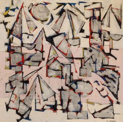 Claude Venard, 'Composition En Rose'