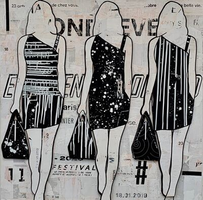 Jane Maxwell, 'Black & White Walking Girls',