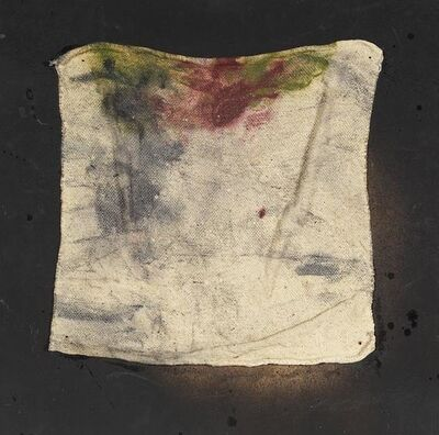 Daniel Spoerri, 'Nach einem geschenkten Lappen soll man nicht schnappen - errate humanem est', 1966