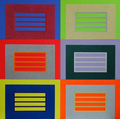 Peter Halley, '6 prisons', 2006