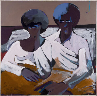 Dmitri Wright, 'Black Couple in Bed Looking at TV', 1971