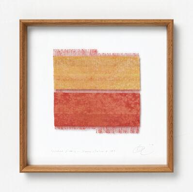 Chiyoko Tanaka, 'Grinded Fabric - Sienna . Yellow #289', 2012