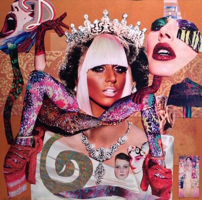 Barbara Able, 'Collage 16 - Lady Gaga, Queen Elizabeth II, Gustav Klimt', 2018
