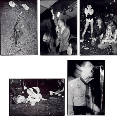 Bruce Conner, 'Five works: (i) Will Shatters Bass Guitar Thrown Down; (ii) Ricky Williams: Sleepers; (iii) Trixie Anxiously Awaits Crime; (iv) De Detroit: UXA; (v) Frankie Fix: Crime', Photographed in 1978 and printed in 1985