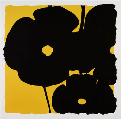 Donald Sultan, 'Reversal Poppies, Yellow and Black', 2015