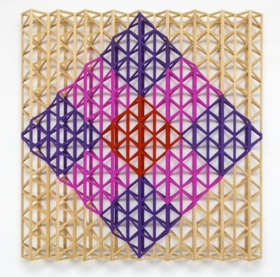 Rasheed Araeen, 'Red Square Breaking into Rainbow Colours', 2015