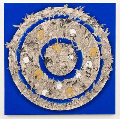 Pema Rinzin, 'Bird Mandala (Blue)', 2016