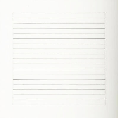 Agnes Martin, 'Untitled #10 (from Stedelijk Museum), 1990', 1990