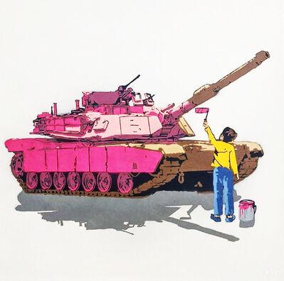 """Kar-Part, ' """"Tank Painter"""" Aerosol on Canvas ', 2020"""
