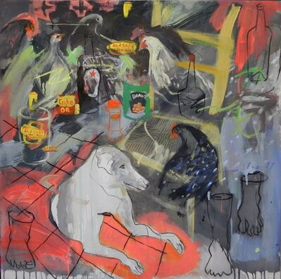 Gopal Dagnogo, 'Intérieur au chien blanc n_2', 2017