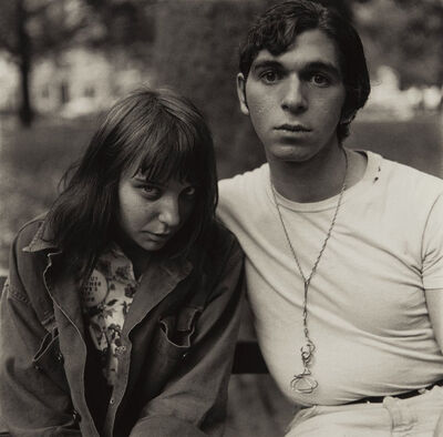 Diane Arbus, 'Young Couple in Washington Square Park, NYC', 1965
