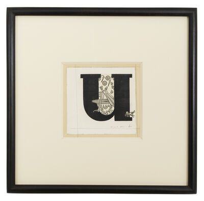 Max Ernst, 'Lettrine U', 1958