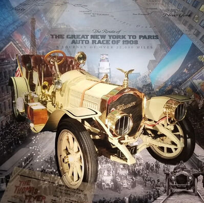Antal Goldfinger, 'Auto Race of 1908', 2018