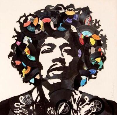 Mr. Brainwash, 'Jimi Hendrix (Broken Vinyl Records)', 2016