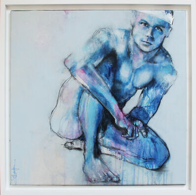 Laurent Bergues, 'Homme bleu', 2018