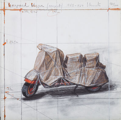 Christo and Jeanne-Claude, 'Wrapped Vespa, Project, 1963-64', 2009