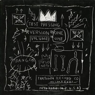 Jean-Michel Basquiat, 'Beat Bop Album Cover', 2001