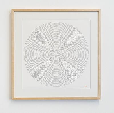 Tatsuo Miyajima 宮島 達男, 'Innumerable Counts Spiral - digital font', 2017