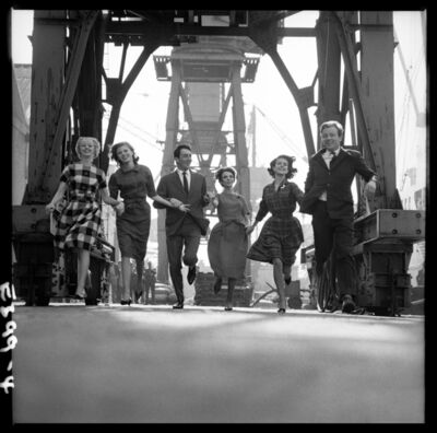 Brian Duffy, 'Fashion in Docks, London', 1960