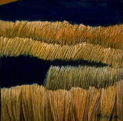 "Ellen Sinel, 'Grasses Series: ""Black Pond #2"" (dimensions provided are without frame)'"