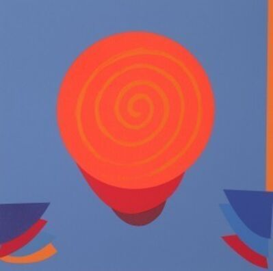 Sir Terry Frost, 'ORANGE & BLUE SPACE', 1999