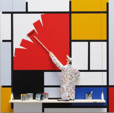 Stephen Hansen, 'Composition with Large Red Plane, Yellow, Black: Mondrian'
