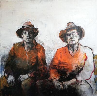 Christophe Hohler, 'painting on canvas- Père et fils', 2019