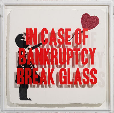 Thirsty Bstrd, 'In case of Bankruptcy - Girl with Balloon Red Glitter', 2020