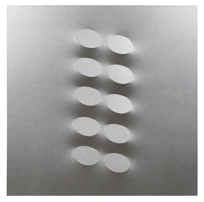 Turi Simeti, '10 ovali argento', 2017