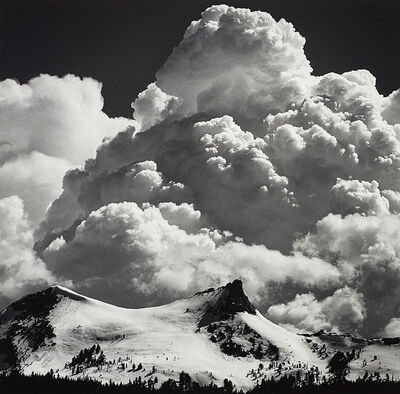 Ansel Adams, 'Thunderclouds, Unicorn Peak, Yosemite National Park', circa 1967