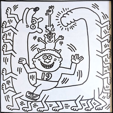 Keith Haring, 'Coloring Book (One Plate)', 1986