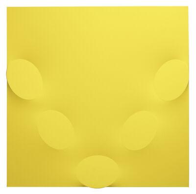 Turi Simeti, '5 ovali gialli', 2018