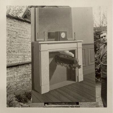 """René Magritte, 'René Magritte et """"La Durée Poignardée"""" (1938), Bruxelles', 1938"""