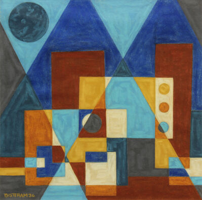 Emil Bisttram, 'Encaustic Pyramids', 1936