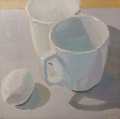 Yuri Tayshete, 'White Mugs and an Egg', 2020
