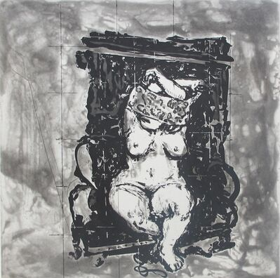 William Kentridge, 'West Coast Series (Set of 5 Prints), Black Chair', 2010