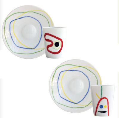 Joan Miró, 'Set of 2 Cups and Assorted Coffee Saucers', 2020
