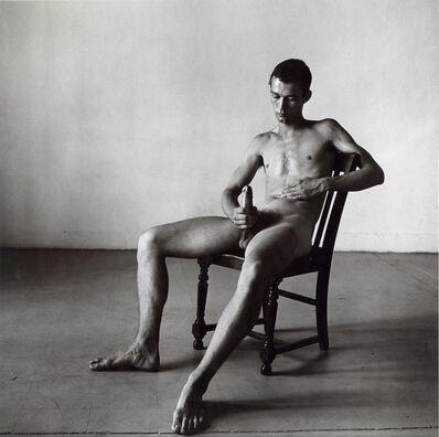 Peter Hujar, 'Seated Nude, Bruce de Sainte Croix', 1976
