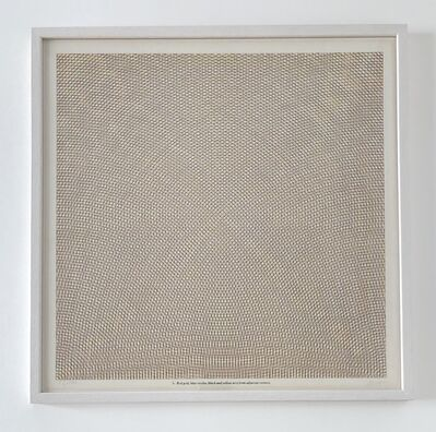 Sol LeWitt, 'Blue grid, red circles, black and yellow arcs from adjacent sides, plate #5', 1972