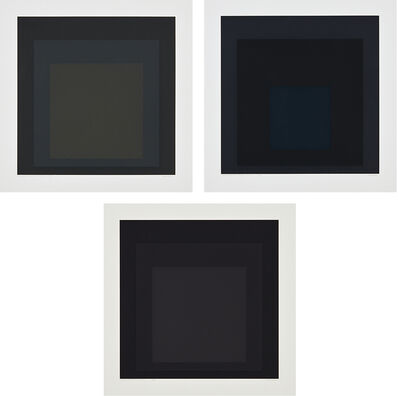 Josef Albers, 'Gray Instrumentation I d; Gray Instrumentation I e; Gray Instrumentation I h, from Gray Instrumentation I portfolio', 1974