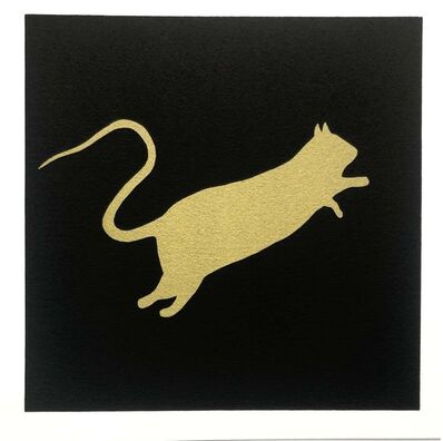 Blek le Rat, 'Golden rabbit', 2020