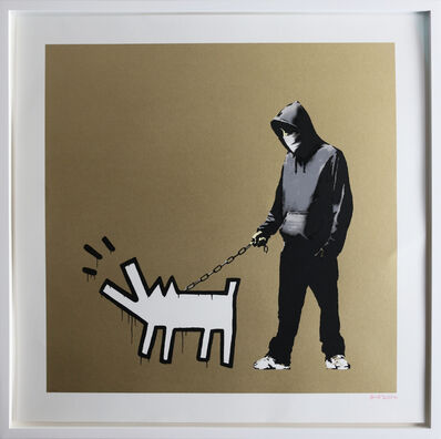 Banksy, 'Choose Your Weapon (Gold) signed', 2010