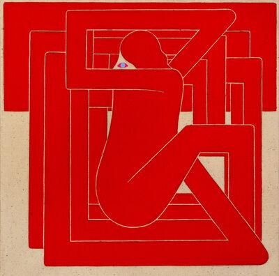 Richard Colman, 'Untitled, (Red Figure, Blue Eye)', 2018
