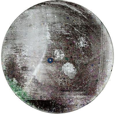 Wolfgang Ganter, 'scratched tondo', 2017